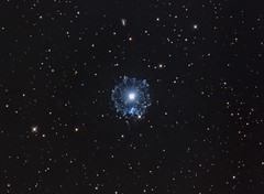 Cat's Eye Nebula (NGC6543) in Hα/OIII-RGB (Carballada) Tags: astrophotography astronomy deep space astro celestron zwo as1600mmc skywatcher ts sky qhy qhy5iii174 pixinsight galaxy galaxies astrophoto astrometrydotnet:id=nova2678567 astrometrydotnet:status=solved