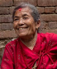 Nepalese lady at the well (SamKirk9) Tags: nepal kathmandu bhaktapur
