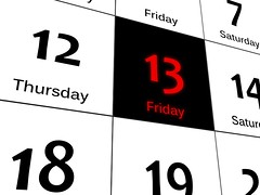Black Friday 13 (tiasimpson) Tags: black friday 13 thirteen week faith calendar time date today weekend superstition luck bad day danger deadline folk disaster accident mythology red romania