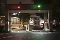Riverview Community Bank (Curtis Gregory Perry) Tags: vancouver washington bank riverview community drive thru through teller atm parking lot arrow green red light night long exposure nikon d810