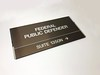 Bronze with Chrome (2/90 Sign Systems) Tags: 290 sign signs signage systems wayfinding facility modular 290signsolutions bronze chrome government slide