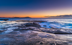 Sunrise Seascape (Merrillie) Tags: daybreak theskillion nature water terrigal nsw rocky sea clouds newsouthwales rocks earlymorning morning landscape centralcoast ocean australia sunrise waterscape coastal outdoors sky seascape dawn coast cloudy waves