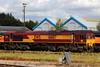 66187, Eastleigh, September 28th 2017 (Southsea_Matt) Tags: 66187 class66 emd ews dbs eastleigh freight canon 80d 24105mm september 2017 autumn hampshire england unitedkingdom railway railroad train rail transport vehicle diesellocomotive