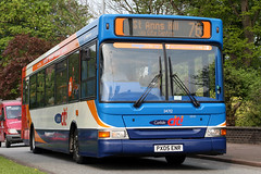 34712 PX05 ENR (Cumberland Patriot) Tags: stagecoach north west england cumbria carlisle willowholme depot cms cumberland motor services adl alexander dennis dart mark three iii slf super low floor plaxton pointer two ii 34712 px05enr citi straight to the heart of city bus derv diesel engine road vehicle public transport route branded orange 76 durranhill stanns st anns hill town service