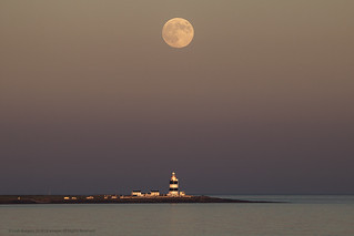 Strawberry Moon Over Hook Lighthouse