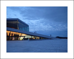Oslo opera exterior study IV (Christa (ch-cnb)) Tags: oslo norway norge opera house architecture snøhetta blue clouds olympus tg4 tough