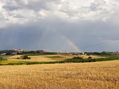 The rainbow on the hills (silvia04.r) Tags: rainbow arc en ciel regenbogene arcobaleno monferrato