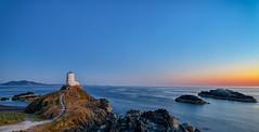 Llanddwyn Island Blues (gmorriswk) Tags: niwbwrch wales unitedkingdom gb newborough llanddwyn island lighthouse seascape landscape sunset blue hour long exposure anglesey