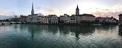 Zürich (FlavioSarescia) Tags: zürich schweiz switzerland summer panorama sun sunset sky light limmat river iphone nature july home architecture hss