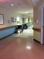 Elm Wood Nursing Home Centre (austindodgephotography) Tags: claremontnh claremont claremontnewhampshire newhampshire newengland nh architecture architektur architectuur hallway hall nursinghome wheelchair doors lights lighting building 03743