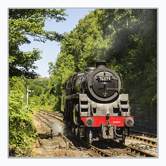 76079 backing up in Goathland (Katybun of Beverley) Tags: 76079 goathland nymr yorkshiremoors northyorkshire steamtrain steamengine track