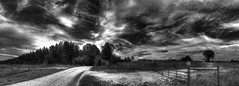 Back Roads (emj1300) Tags: black blackandwhite blackwhite bw art amazing afternoon spirit spiritual summer clouds hdr honeycreekwoodlands iphone365 innerpath interior thewayisee hunt experience matthewjeffres meditation monastery rural road pano prayer path