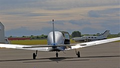 TWO PIPERS NEWCASTLE AIRPORT (toowoomba surfer) Tags: aircraft aviation aeroplane ncl
