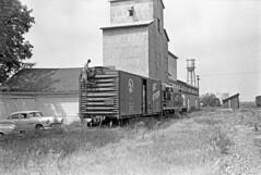 "CB&Q Conductor ""Hummy"" Humiston (Chuck Zeiler) Tags: cbq burlington railroad boxcar freight car waterman train hummyhumiston conductor chuckzeiler chz gn 34108"