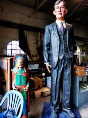 The World's Tallest Man (Steve Taylor (Photography)) Tags: worldstallestman statue indian chief apache mindyourhead glasses headdress art sculpture newzealand nz southisland canterbury christchurch man