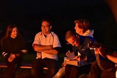 Lagerfeuer (wolfgraebel) Tags: nacht night campfire bayern bavaria niederbayern schwarzer regen kanu kajak german germans germany group people friends fire feuer guitar