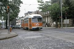 US PA Philadelphia SEPTA PCC 2795 5-11-1974 Rt 23 Germantown-Upsal sb (David Pirmann) Tags: philadelphia pa pennsylvania septa trolley streetcar tram transit railroad train pcc explored