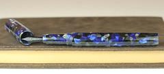 Black and Blue Custom Fountain Pen (BenjaminCookDesigns) Tags: fountainpen custom bespoke engraved personalised classic vintage artdeco style gift birthday christmas fpgeeks fpn giftforhim giftforher füllfederhalter