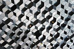 Harpa Concert Hall roof, Reykjavik, Iceland (John Briody Photography) Tags: nikon d750 fx fullframe iceland reykjavík harpa harpaconcerthall squares cubes geometric reflections shiny light silver black lines