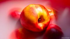 Heavenly nectarines (Szymon Simon Karkowski) Tags: fruit nectarine stream water sun food five yellow red orange nikon d7100