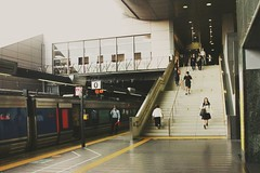 2018-06-19_08-26-24 (jumppoint5) Tags: urban city kyoto japan people street railway train reflection