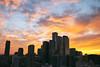 Amazing Sunset Skies in the Growing City of Toronto (Katrin Ray) Tags: amazingsunsetskiesinthegrowingcityoftoronto sunmagic sun sunset star rays clouds sky golden light dramatic blue yellow orange toronto ontario canada katrinray dreamscapesoftoronto canonphotography eos canon rebel t6i 750d
