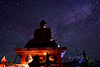 In search of peace… (Joy lens) Tags: midnight night star buddha himalaya india nightscape landscape himachal incredible sky newmoon