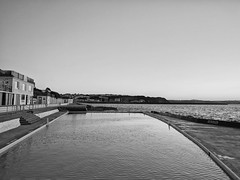 Shoalstone (ancientlives) Tags: brixham devon england englishriviera uk europe shoalstone swimming pool sunset evening reflections blackandwhite bw mono monochrome walking june 2018 summer sunday