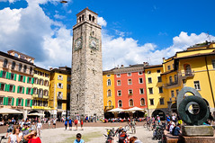 Riva del Garda (Valdy71) Tags: garda lake travel city piazza square color valdy italia italy nikon tower