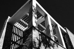 Trellis (JCTopping) Tags: modern shadow 24mm mchenry maryland architecture baltimore canon blackandwhite 6d fort unitedstates us