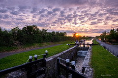 15th Lock Sunset (cogy) Tags: sunset water reflection royal canal greenway royalcanal kilcock kildare ireland lock gate boats landscape sky clouds cloudporn