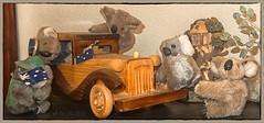 The others will have to take the bus ... (boeckli) Tags: animal koala toy spielzeug wood smileonsaturday madeofwood ausholzgemacht smile lächeln auto car fahrzeug vehicle flags travel reise ausfahrt ausflug trip photoborder 7dwf