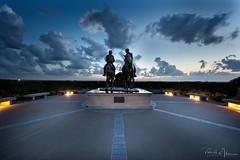 The Prophet's Last Ride (RH Miller) Tags: rhmiller reedmiller landscape statue clouds sunset nauvoo illinois usa