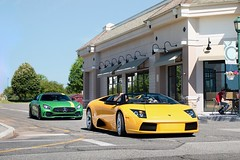 The daily and the weekend (nyccars) Tags: lp640 exotic cars car supercar silverwheels convertible roadster murcielago yellow beastofthegreenhell gtr amg mercedesbenz lamborghini
