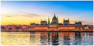 Hungarian Parliament Building by Sunrise