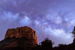 Courthouse Butte (Carl Cohen_Pics) Tags: courthousebutte milkyway redrocks sedona arizona sigma sigmaartlens sigma24mmf14dghsm|art stars estrella spring darksky night nature nightphotography nightsky naturephotography canon canon7dmarkii sagittarius
