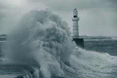 Power (Derek Coull) Tags: aberdeen harbour breakwater storm waves mothernature lighthouse