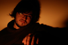 red lights (EternalEtulf) Tags: red 50mm canon myself portrait retrato chile light