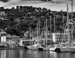 St Mandrier Sur Mer, France (All I want for Christmas is a Leica) Tags: stmandriersurmer boats marina france toulon monochromelandscape monochrome blackwhite sea water masts panasoniclumixg3 panasoniclumix1442mmhdii