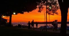 Red sky via iPhone X (LEXPIX_) Tags: sunset dramatic red framed lampposts evening walk stroll afterglow burlington waterfront boardwalk marina vermont vt iphone iphonex lexpix
