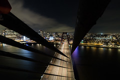 The Willemsbrug (T.3xplore) Tags: exploring escape electricity rooftops rooftop rotterdam urbex urbanexploring citylights city infiltration light hide night nighttime police bridge active climb climbing netherlands