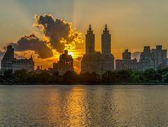 Sunset over the Central Park Reservoir (Jeffrey Friedkin) Tags: jeffreyfriedkinphotography architecture buildings cityscene cityscape centralpark skyline manhattan newyork nyc newyorkscene park