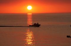 Sunset Trail (craigsanders429) Tags: lakeerie lakeerieinohio sunsetphotography sunsets sunset sunsetcolors boats water waterways watercraft vermilionohio greatlakes