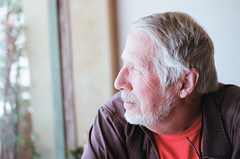 Reflective Richard (radargeek) Tags: film minolta x370s 35mm az arizona casagrande richard redfored portrait restaurant bighousecafe window