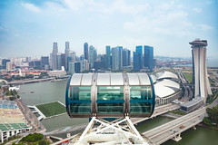 Marina bay from top of Singapore flyer, Singapore city skyline (Patrick Foto ;)) Tags: amusement architecture asia asian attraction beautiful beauty big building capsule circle construction detail entertainment fair famous ferris flyer fun giant high huge landmark largest leisure marina modern observation outdoor panorama panoramic park recreation ride scene scenery scenic sightseeing singapore steel structure tallest thrill tourism tourist travel urban vertical view wheel sg