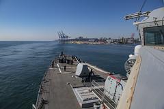 USS Porter (DDG 78) departs Odessa, Ukraine, July 18, 2018.