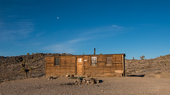 Boxcar Cabin with Moon (joeqc) Tags: dvnp deathvalley deathvalleynationalpark panamint fuji xt20 xf18135f3556 ca california mojave cabin oncewashome