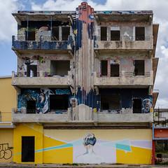 The sexiest part of a woman (ep_jhu) Tags: x100f cement art puertorico balcones graffiti pr fujifilm abandonado artdeco mural abandoned urban neck dark woman fuji windows balconies sanjuan santurce cemento concrete