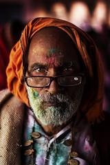 Old Man (Harshal Orawala) Tags: portrait harshalorawala holi oldman eyes lights