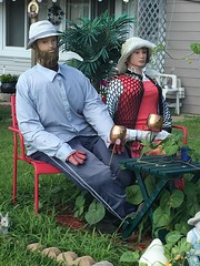 Ma & Pa enjoying Moscow mules (Rochelle Hartman) Tags: funny folksy lawndecorations mannequins moscow mule